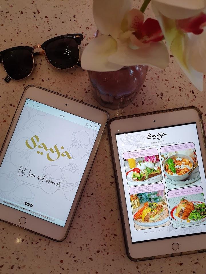 منيو مقهى سايا في دبي